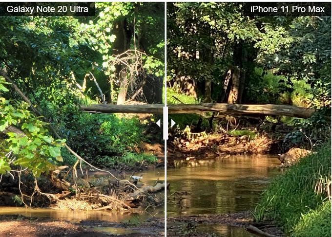 So sánh về khả năng chụp zoom