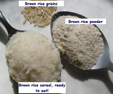 Làm bột gạo lứt cho bé ăn dặm
