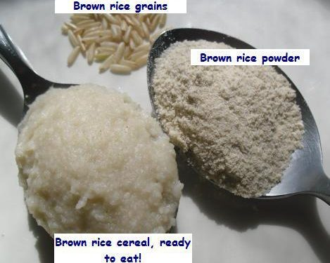 Cách làm bột gạo lứt cho bé ăn dặm